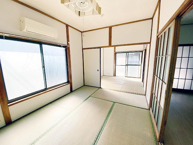 日当たりの良い明るい和室(居間)